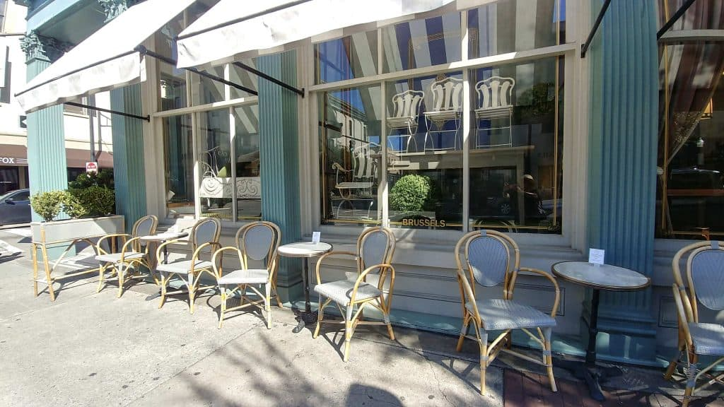 Outside seating at The Paris Cafe