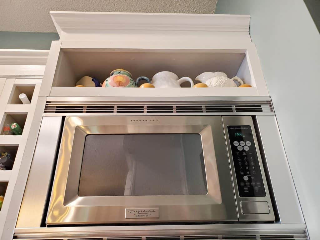 Kitchen Renovation DIY Microwave Station | Me and My Traveling Hat | FREE Content on Our Blog