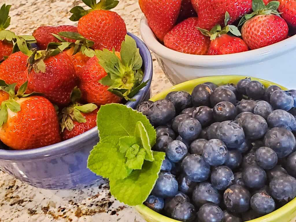 Strawberries and Blueberries |Me and My Traveling Hat | Free Content on Our Blog