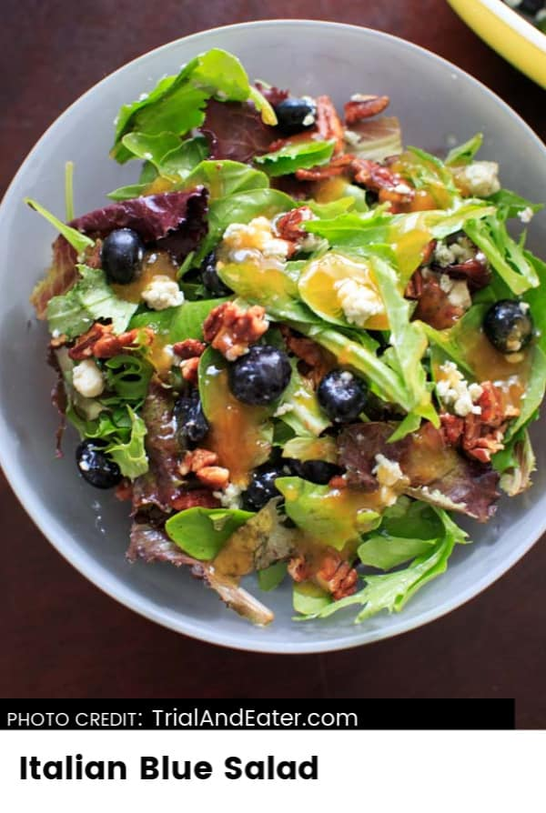 Italian Blue Salad | For more free recipes go to Me and My Traveling Hat